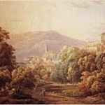 Carl Ludwig Frommel, Baden-Baden, Aquarell, 1844